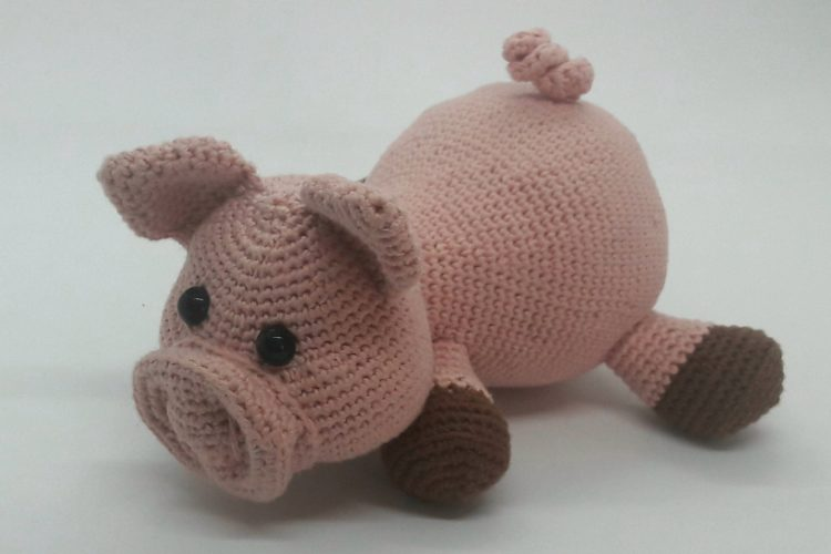Sam le Cochon patron Littlemouse Crochet DMC Natura Just Cotton